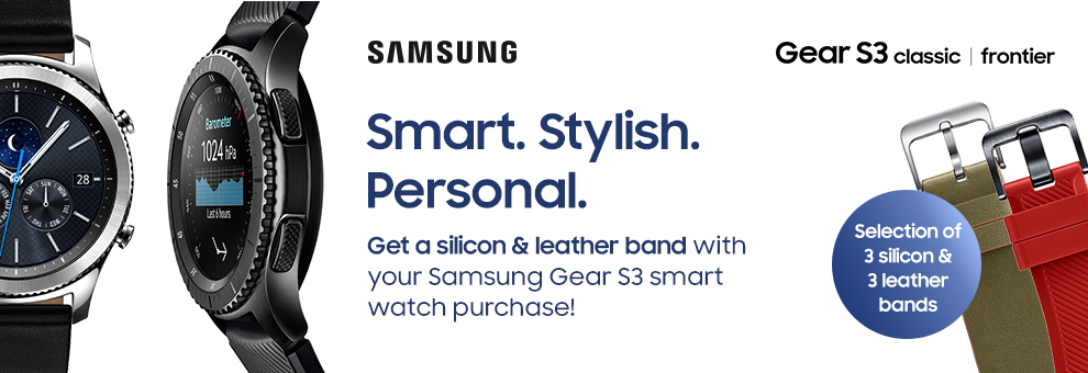 A free strap with Samsung Gear S3 smartwatch