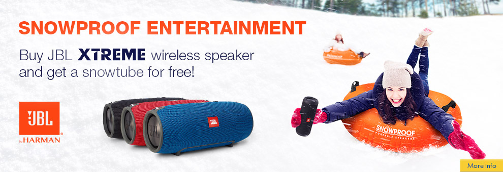 Free Snowtube with JBL Xtreme or Boombox  speaker!