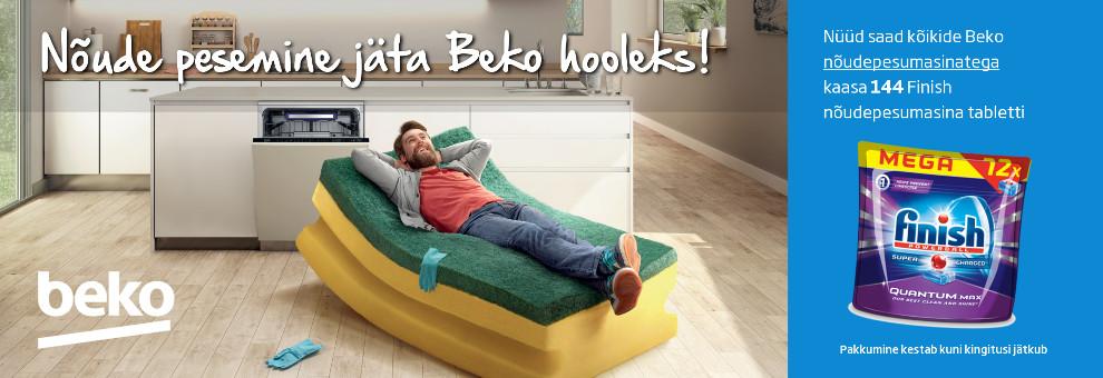 Beko nõudepesumasinatega kaasa 144 Finish pesuvahendi kapslit!