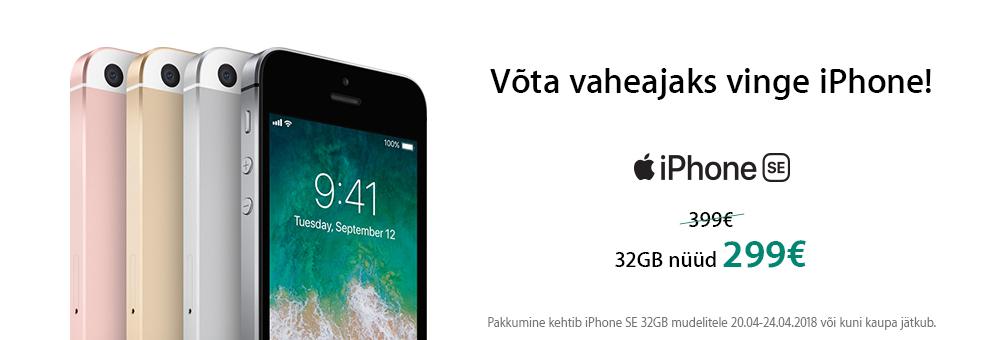 iPhone SE (32 GB) eripakkumine!