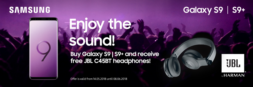 Free JBL wireless headphones with Samsung Galaxy S9 and S9+ smartphones