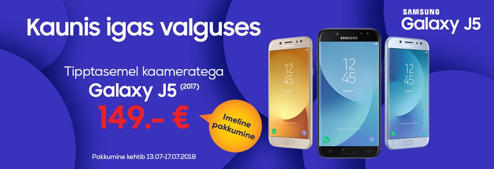 Samsung Galaxy J5 (2017) vaid 149€! Pakkumine kehtib 13.07 - 17.07.2018