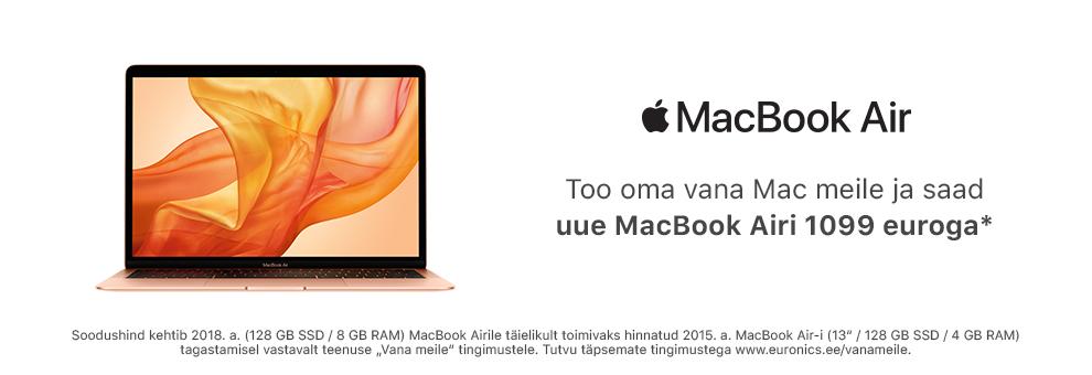 Too oma vana Mac meile ja saad uue MacBook Airi soodsamalt!