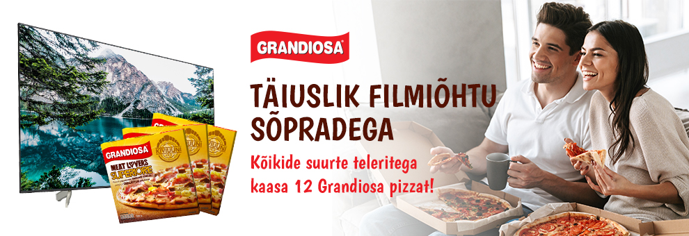 Kõikide suurte teleritega kaasa 12 Grandiosa pizzat!