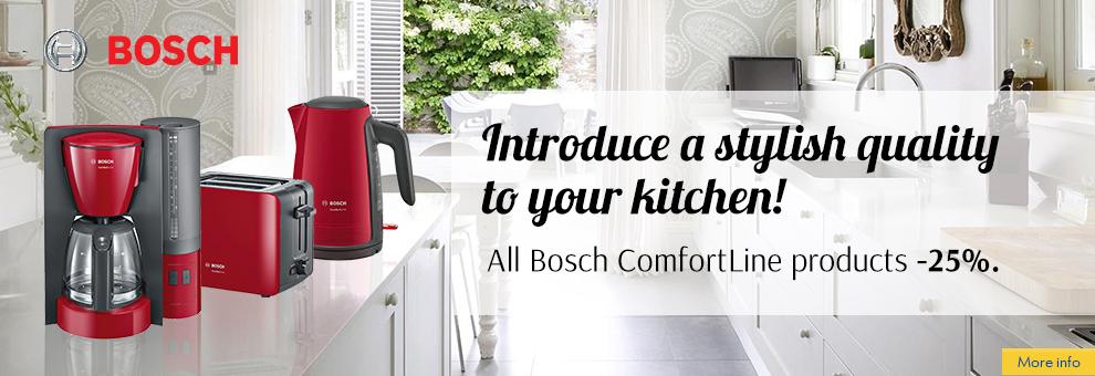 Bosch Comfortline breakfast line discounted up to 30%
