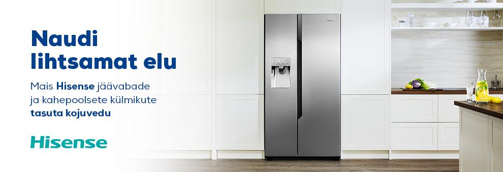 Hisense jäävabade ja  kahepoolsete külmikute ning pesumasinate kojuvedu tasuta!
