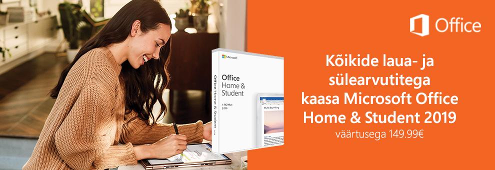 Kõigi laua- ja sülearvutitega kingituseks Microsoft Office Home & Student 2019
