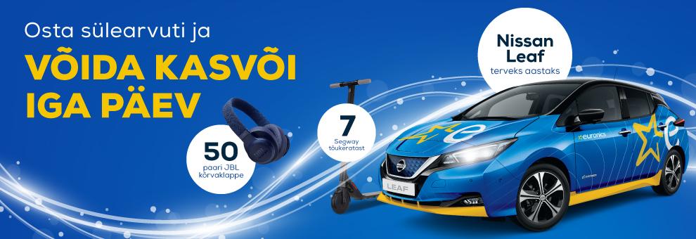 Osta sülearvuti ja võida JBL-i kõrvaklapid, Segway elektritõukeratas või Nissan Leaf terveks aastaks!