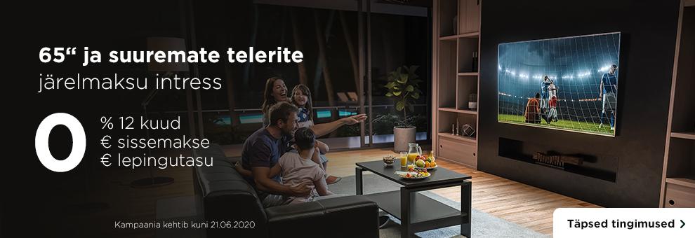 65 ja suuremate telerite järelmaksu intress esimesed 12 kuud 0% ja lepingutasu 0€!