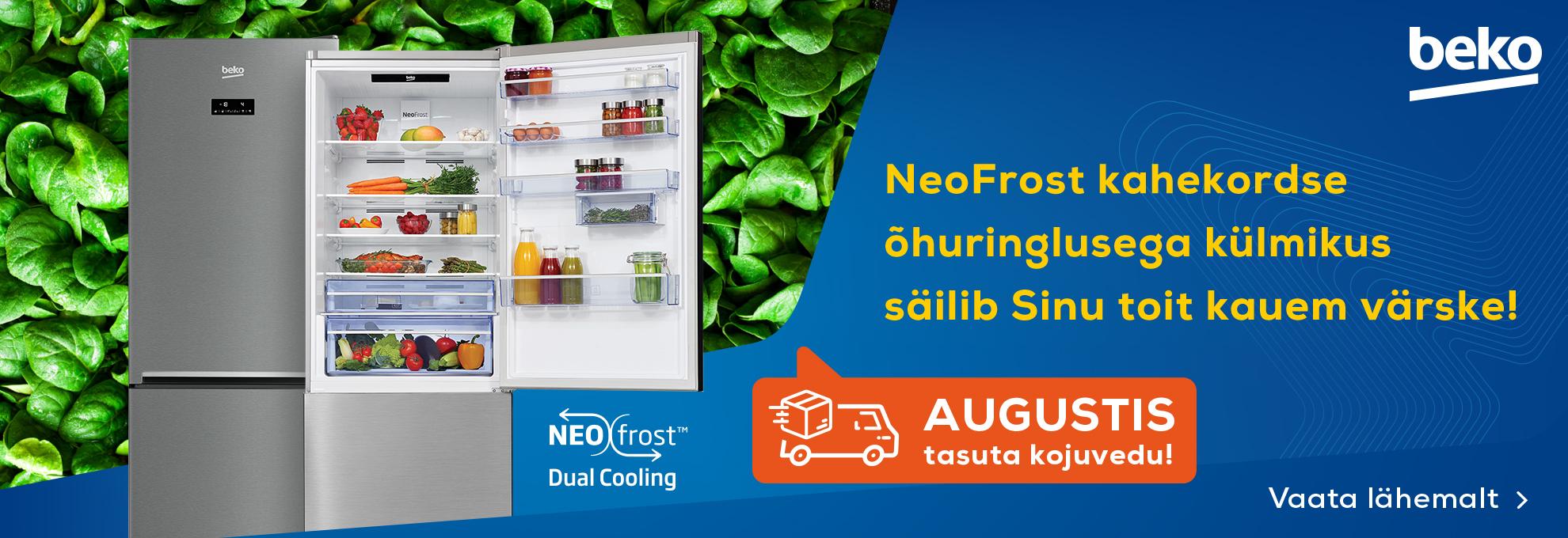 Beko NeoFrost külmikute tasuta kojuvedu