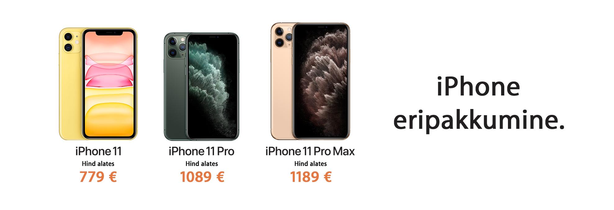 iPhone 11 eripakkumine
