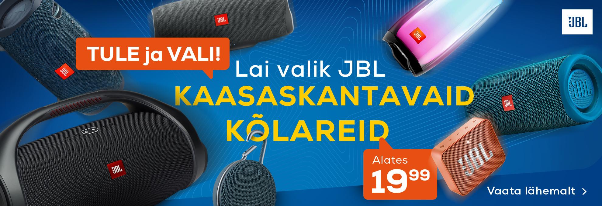 Lai valik JBL kaasaskantavaid kõlareid!