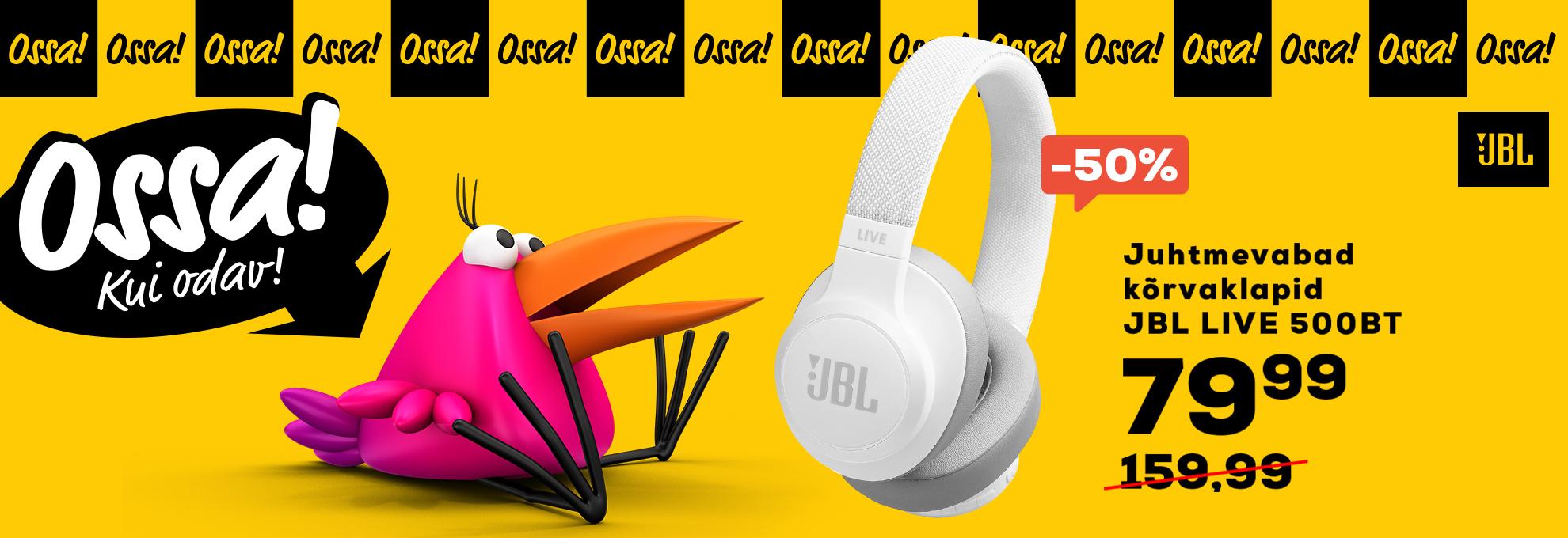 Ossa JBL Juhtmevabad kõrvaklapid JBL LIVE 500BT