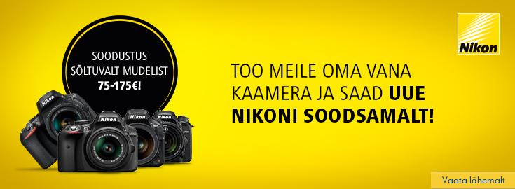 PL Too meile ükskõik milline vana kaamera ja saad uue Ńikoni kuni 175€ soodsamalt!