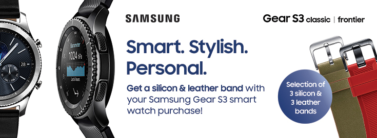 PL A free strap with Samsung Gear S3 smartwatch
