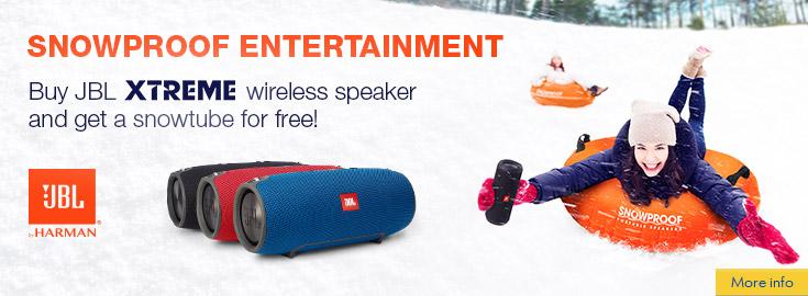 PL Free Snowtube with JBL Xtreme speaker!