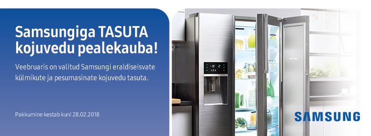 PL Valitud Samsungi suurte kodumasinate kojuvedu tasuta!