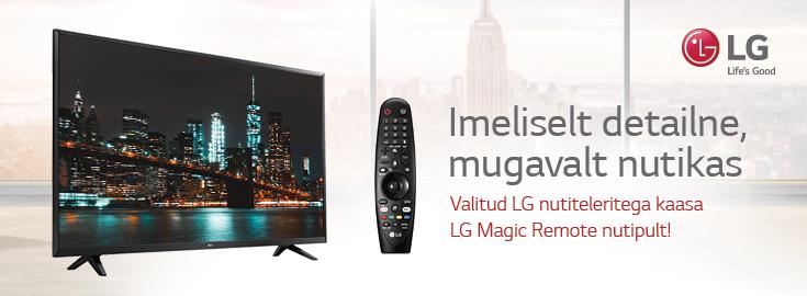 MP Kõigi LG nutiteleritega kaasa LG Magic Remote nutipult!