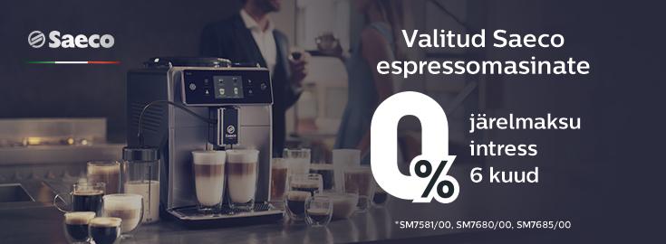 MP 0% intress Saeco espressomasinatele