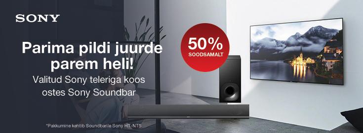 MP Valitud Sony teleriga koos ostes Sony Soundbar Sony HT-NT5 50% soodsamalt!
