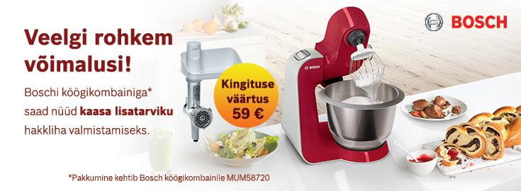PL Bosch MUM57820 köögikompainiga  kaasa hakklihatarvik!