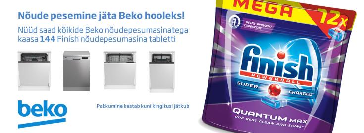 PL Beko nõudepesumasinatega kaasa 144 Finish pesuvahendi kapslit!