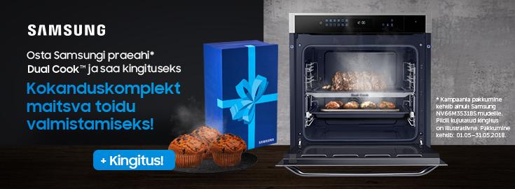 PL Samsung DualCook ahjuga NV66M3531BS/EO kingituseks köögiriistade komplekt!