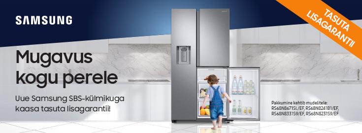PL Valitud Samsungi kahepoolsetele külmikutele kaasa tasuta lisagarantii