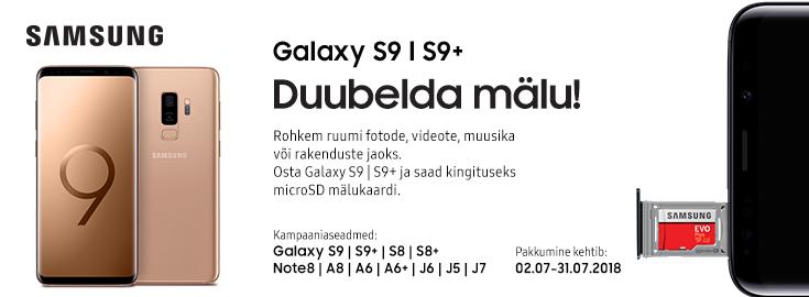 PL Duubelda mälu! Valitud Samsungi nutitelefonidega kingitsueks mälukaart!