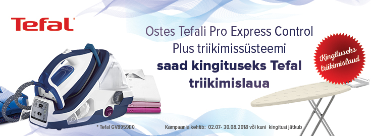 MP Tefal Pro Express Control triikimiskeskusega kaasa Tefal triikimislaud