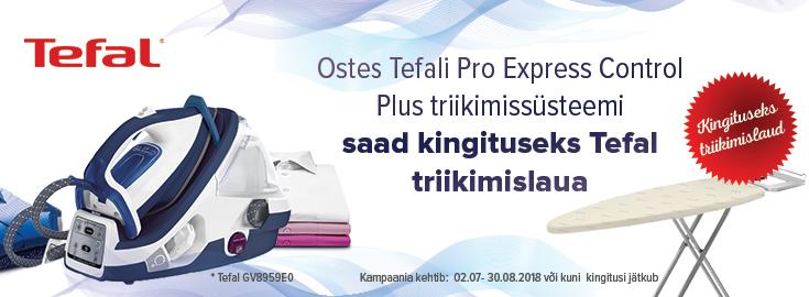 PL Tefal Pro Express Control triikimiskeskusega kaasa Tefal triikimislaud