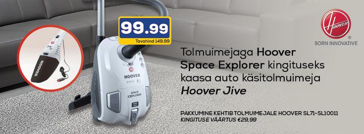 MP Hooveri tolmuimejaga Space Explorer kaasa auto käsitolmuimeja