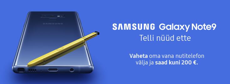MP Eeltelli Samsung Galaxy Note9 kuni 200€ soodsamalt