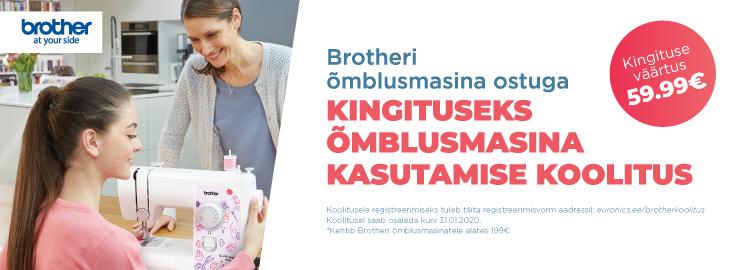 MP Brotheri õmblusmasina ostuga tasuta õmblusmasina kasutamise koolitus