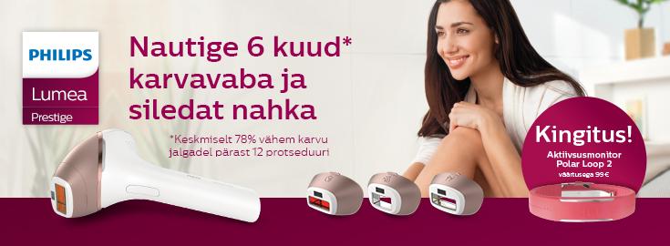 MP Osta valitud Lumea Prestige fotoepilaator ja saad kingituseks Polar Loop 2 aktiivsusmonitori!