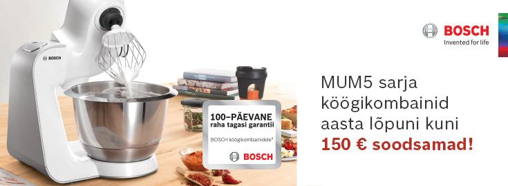 MP Bosch MUM5 köögikombainid 150€ soodsamalt