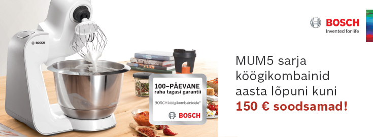 PL Bosch MUM5 köögikombainid 150€ soodsamalt