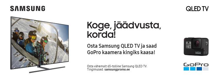 PL Osta Samsung QLED teler ja saad kingituseks seikluskaamera GoPro Hero7 Black!