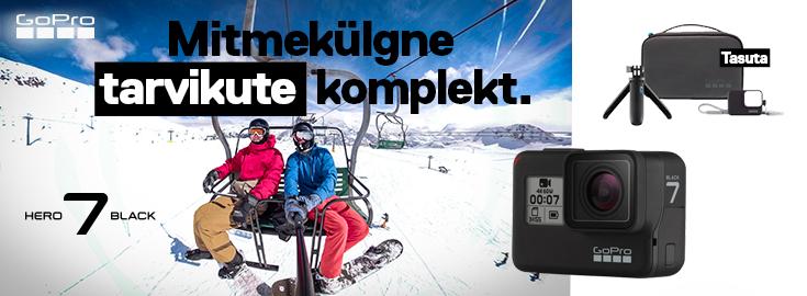 MP Seikluskaameraga GoPro HERO7 Black kingituseks tarvikute komplekt väärtusega 59.99€
