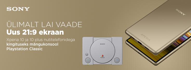 MP Sony Xperia X10 plus või X10  nutitelefoniga kingituseks Mängukonsool Sony PlayStation Classic