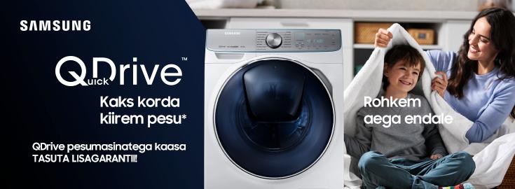 PL Samsung QDrive pesumasinatega kaasa tasuta lisagarantii!