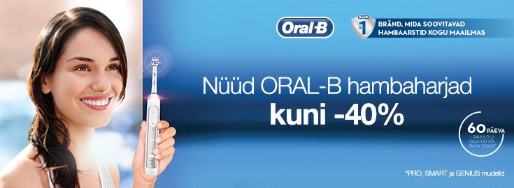 PL Oral-B hambaharjad kuni -40%