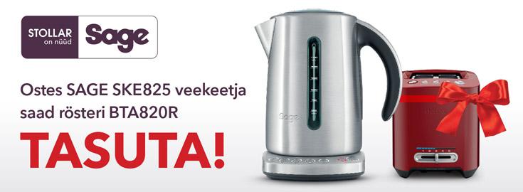 PL Sage SKE825 veekeetjaga kaasa röster BTA820R!