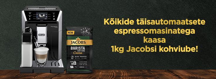 PL Kõikide espressomasinatega kaasa 1 KG Jacobs kohviube!