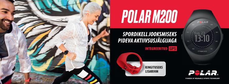 PL Polar M200BLK spordiellaga tasuta kaasa lisarihm