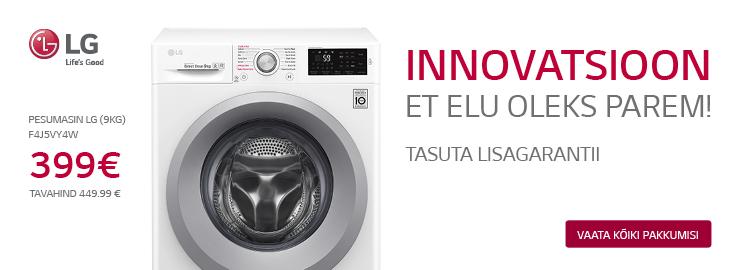 PL Valitud LG pesumasinatele kaasa tasuta lisagarantii