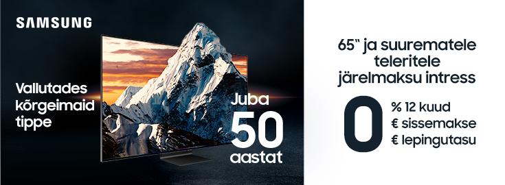 PL Samsungi 65 ja suuremate telerite järelmaksu intress esimesed 12 kuud 0% ja lepingutasu 0€!