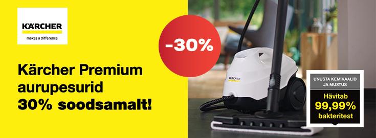 MP Kärcher Premium aurupuhastid 30% soodsamalt!