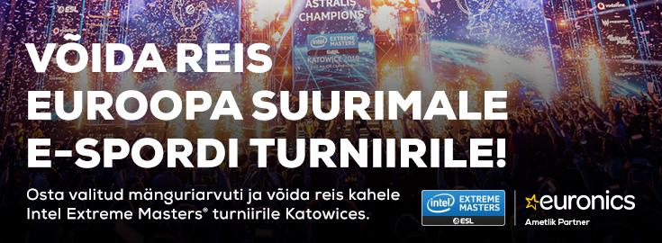 PL Osta valitud mänguriarvuti ja võida reis kahele ESL Intel Extreme Masters turniirile!