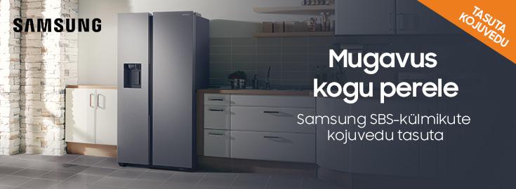 PL Samsung kahepoolsete külmikute kojuvedu tasuta!